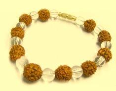 Rudraksha + Sphatik Bracelet image.grahnakshatra